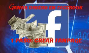 Paso numero 1: Crear Fan page o página de fans