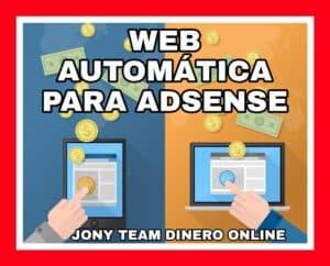 Web automática para Adsense