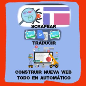 Scrapear, Traducir y Crear nueva web. Todo en automático